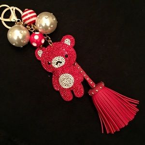 NEW! Sparkly RED Puffy Bear 🐻 & Scarlet Tassel!